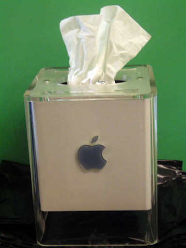 Apple G4 CUBE Tissue Box