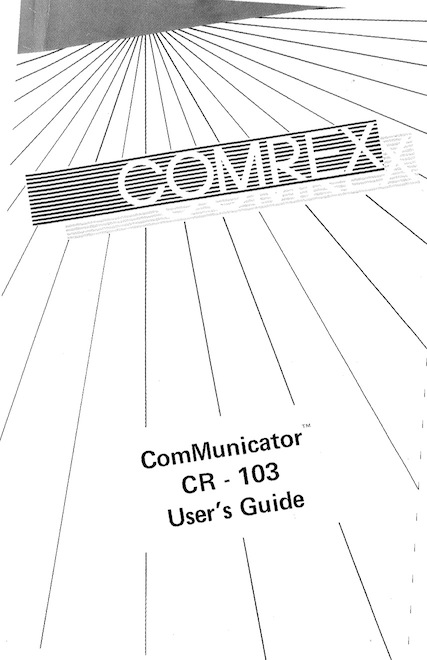 CR103 manual cover