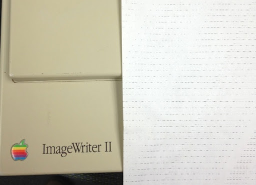 ImagewriterII first test