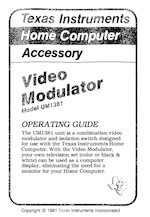 Ti video modulator operating guide