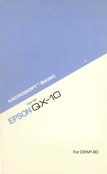 Microsoft basic for qx 10