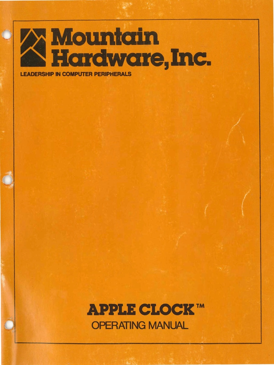Mountain apple clock operating manual