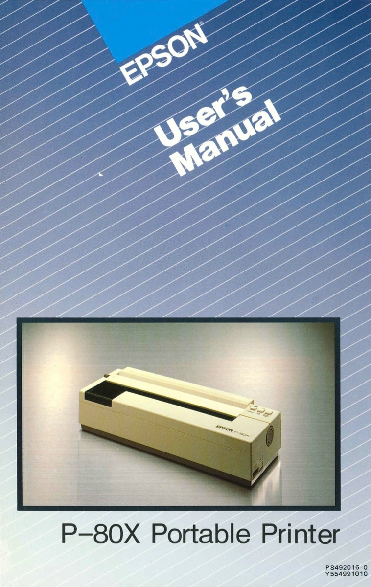 P 80x users manual