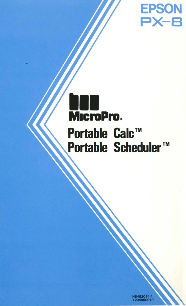 Portable calc portable scheduler