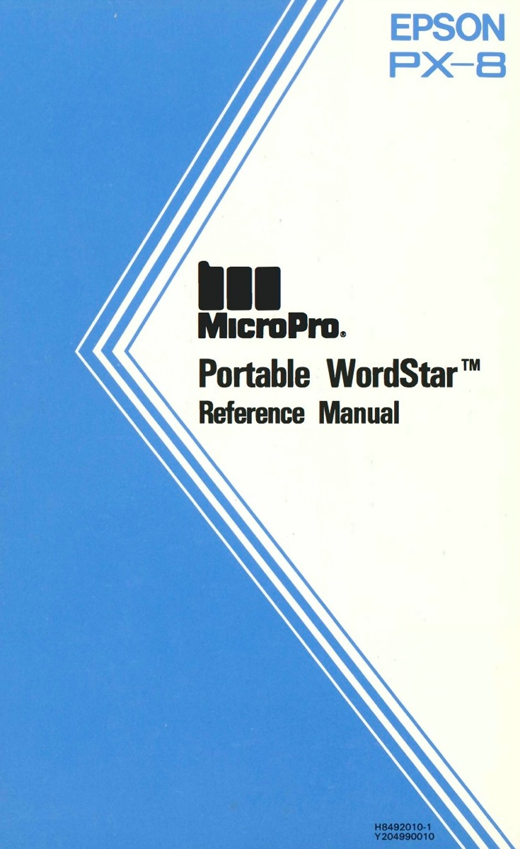 Portable wordstar reference manual