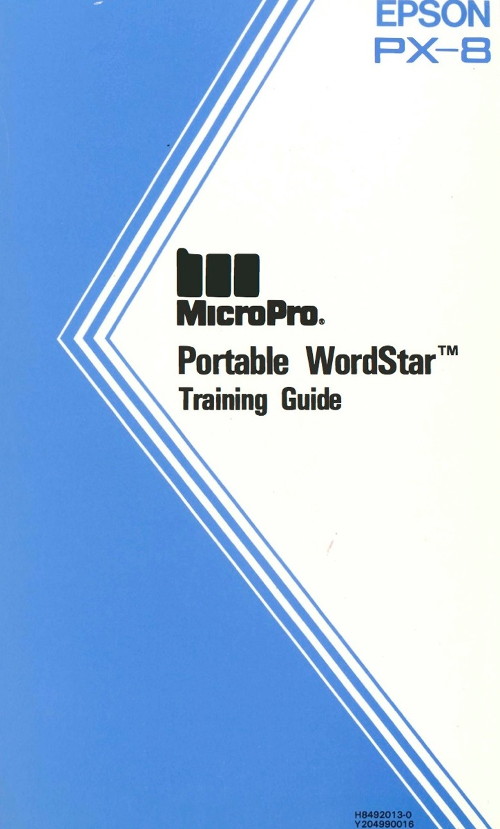 Portable wordstar training guide