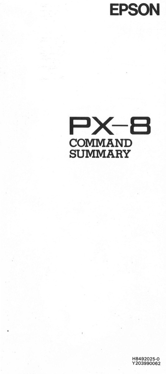 Px8 command summary