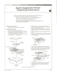 Imagewriter unpacking instructions