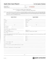 A2bg user input report
