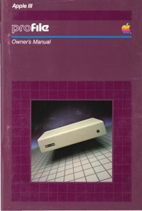 Apple iii profile owners manual