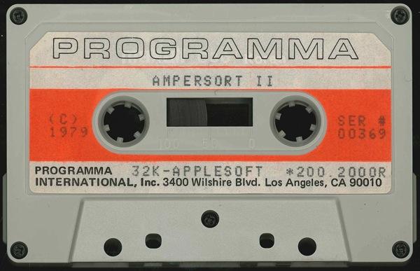 Ampersort ii tape front