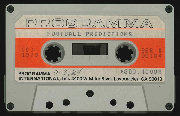 Football predictions tape front