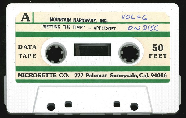 Mountain setting time tape front