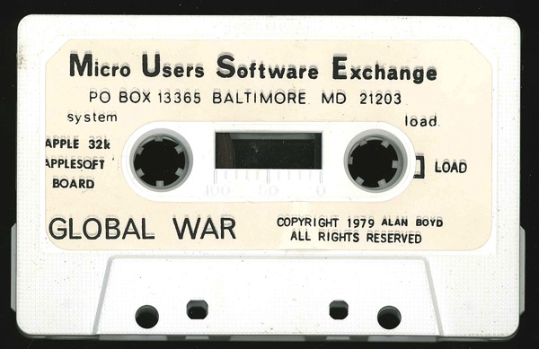 Muse globalwar tape front