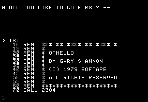 Othello int list