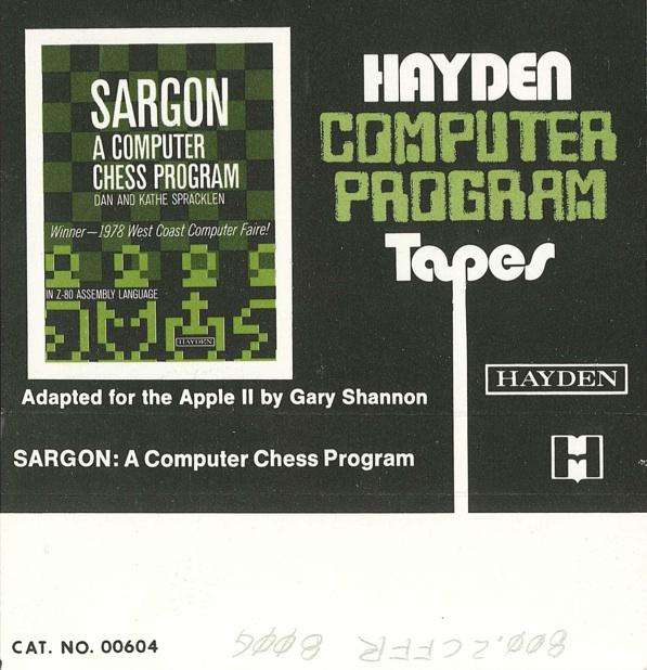 Sargon tape cover