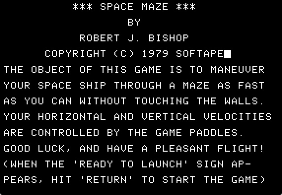 Space maze splash