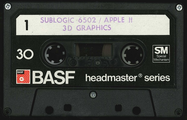 Sublogic 3d graphics tape front