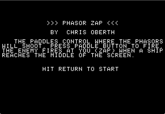 Phasor zap instructions