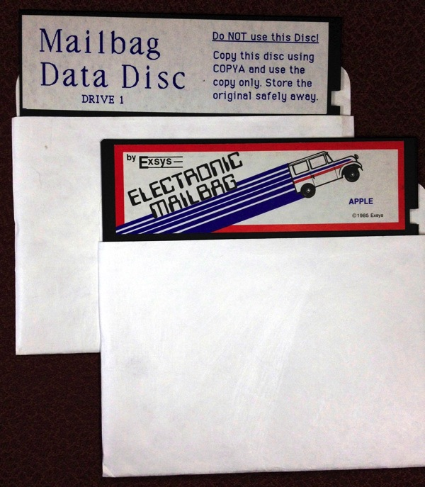 Electronic mailbag disks