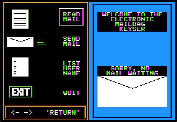 Mailbag menu nomail