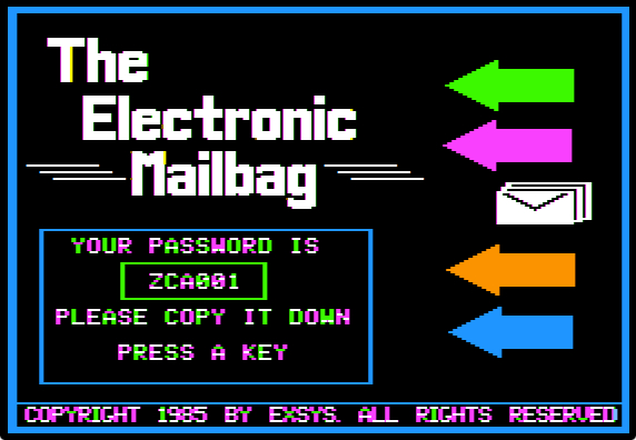 Mailbag new password