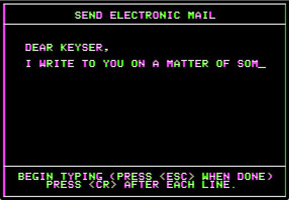 Mailbag send nowrap