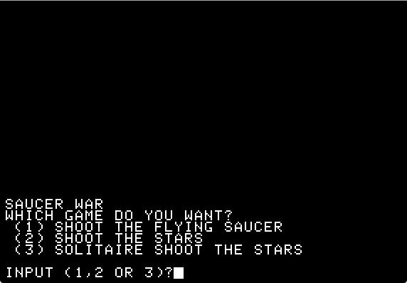Space war start