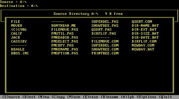 Filemover directory