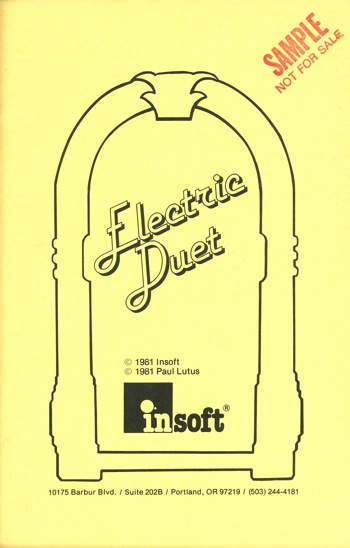 Electric duet manual