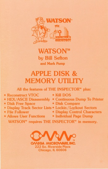 Omega watson manual