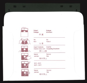 Castle wolfenstein 2932 disk sleeve back