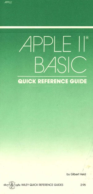 Apple ii basic quick reference guide