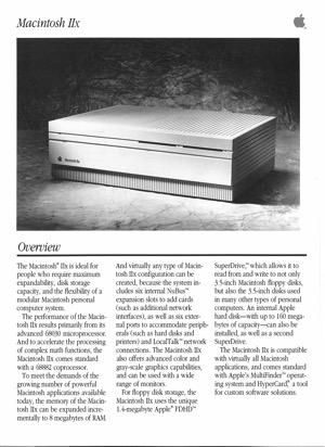 Macintosh iix 8909