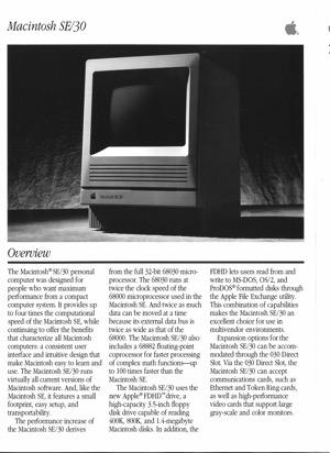 Macintosh se 30 8901
