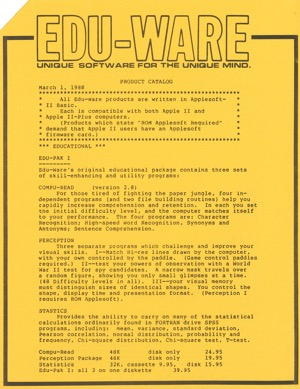 Edu ware catalog 1980 march