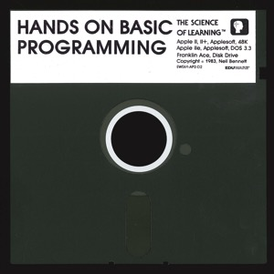 Hands on basic programming disk front