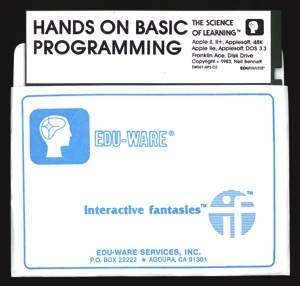 Hands on basic programming disk sleeve front