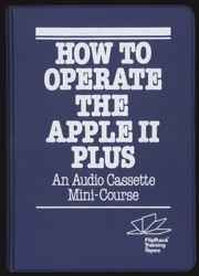 How to operate the apple ii plus binder front