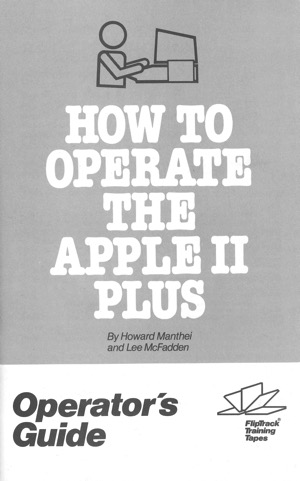 How to operate the apple ii plus operators guide