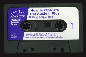 How to operate the apple ii plus tape1a
