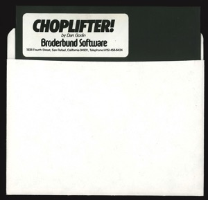 Choplifter 7232 disk sleeve front