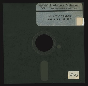 Galactic trader 3998 disk front